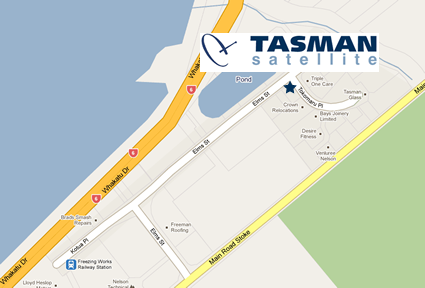 Tasman Satellite Location